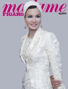sheikha mozah pictures | Noblesse & Royautés » La Sheikha Mozah à la Une de « Madame Figaro ...