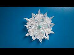 Снежинка канзашиНовогодние канзашиСнежинка из лентSnowflake kanzashi - YouTube