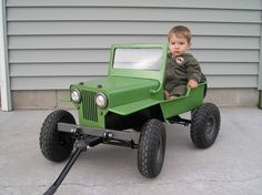 Cool little Jeep wagon. The next Generation of Jeepers! Kids Wagon, Toy Wagon, Jeep Willys, Kids Jeep, Radio Flyer Wagons, Little Red Wagon, Power Wheels, Kids Ride On, Pedal Cars