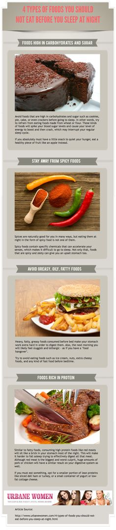 4 Types Of Foods You Should Not Eat Before You Sleep At Night [Infographic]