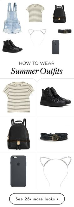 Summer Outfit by jahnn on Polyvore featuring HM, Monki, Converse, Michael Kors and Lipsy