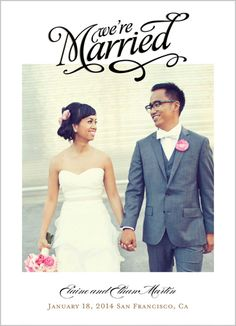Our Big News 5x7 Photo Card by Shutterfly   Shutterfly - Wedding Announcement Option