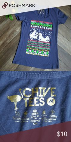 Chive Tees Tshirt Super awesome anti-christmas Christmas tee shirt. Perfect for the warmer states. Size M. EUC. Chive Tees Tops Tees - Short Sleeve