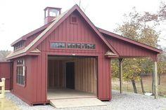 Grand Victorian Single Bay Garage Photos: The Barn Yard & Great Country Garages Backyard Barn, Backyard Sheds, Garden Sheds, Building A Pole Barn, Building A Shed, Building Homes, Barn House Plans, Barn Plans, Porsche Garage