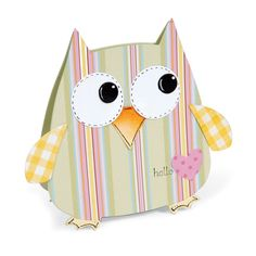 Sizzix: Hello Owl Gift Bag by Debi Adams.  Details on our blog: http://sizzixblog.blogspot.com/2012/05/hello-owl-gift-bag.html#