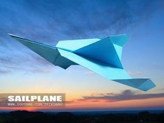 EASY PAPER AIRPLANE - How to make a paper airplane that FLIES FAST | Silent Thunder - YouTube