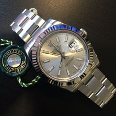 RT: For him this Christmas?  Rolex Datejust II steel & white gold  #InStock