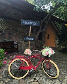 #bici #hacienda #novios #flores