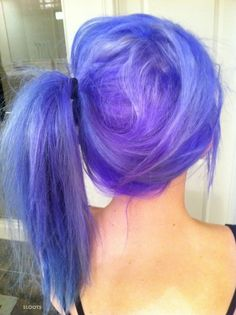 Purpley Bluey Hair.