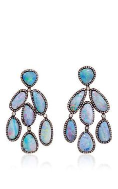 One of a kind assana earrings by LAUREN CRAFT COLLECTION Preorder Now on Moda Operandi