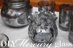 DIY faux mercury glass tutorial. Hollywood Regency happiness!