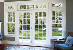 French windows- Also called French doors they are long sash windows hinged to the side. The window extends down to the floor and serves as a door, French Windows, French Doors Patio, French Patio, Back Doors, Entry Doors, Garage Doors, Front Entry, Closet Doors, Entrance