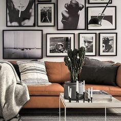 Photo art wall with a few prints from our shop // Styling by @scandinavianhomes and photo by @kronfoto#theposterclub #photoart #posterwall #viamartine #johannalehtinen #interiorstyling