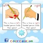 FREE Pencil Grip Poster - PDF file1 page freebie designed by Clever Classroom.Teach your students how to hold a pencil correctly with this clas...