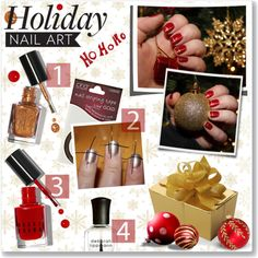 """""""Easy Holiday Nail Art"""" by designsbytraci on Polyvore"""