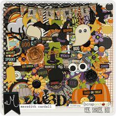Eek Shriek Boo by Meredith Cardall at ScrapOrchard #Halloween #digitalscrapbook #meredithcardall