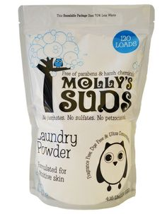 Molly's Suds Laundry Powder (120 loads).  the only soap we'll use for the rest of our lives.
