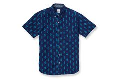 Santa Fe Ikat - Short Sleeve - Navy & Turquoise