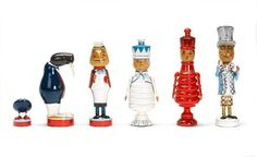 Alice in Wonderland chess set characters