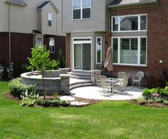 paver patio « creative landscapes   outside ideas   pinterest ... - Patio Ideas For Small Spaces