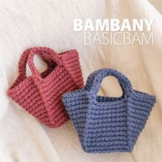 Finger Knitting, Crochet Handbags, T Shirt Yarn, Knitted Bags, My Mom, Celine, Crochet Projects, Straw Bag, Crochet Tote