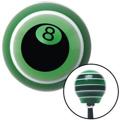 Black 8 Ball 3D Style Green Stripe Shift Knob with M16 x 15 Insert - Give your interior the ultimate look. American Shifter's Elite(TM) series shift knobs are made from the highest quality components resulting in a superior feel on every shift. Each shift knob is designed and customized in the USA by skilled shift knob artisans who have a trained eye on every detail. American Shifters shift knobs offers an exclusive aluminum threaded insert designed to be screwed onto your shift arm. You…