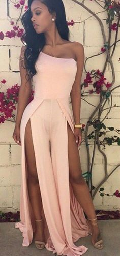 Coral maxi prom dress. women fashion outfit clothing style apparel @roressclothes closet ideas
