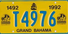 BAHAMAS Licence Plates, License Plate Art, Family Chiropractic, Bahamas, Motivation, Route 66, Vw, Euro, Collections