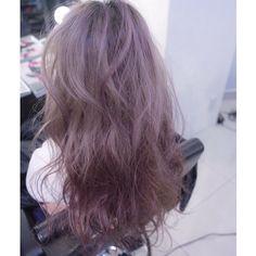 41 Ideas Hair Color Ash Purple - Hairstyles For All Ash Purple Hair, Dyed Hair Blue, Hair Color Auburn, Hair Color Purple, Cool Hair Color, Ombre Hair, Pink Hair, Ash Hair, Brown Hair Korean