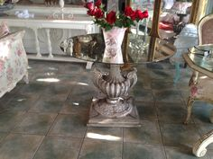 DISTRESSED ITALIAN TABLE WITH MIRROR TOP