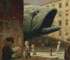 "The Horror of Satan's Darkness, ""Darkness"" by Shaun Tan  ::: #Art #Drawing #Illustration"