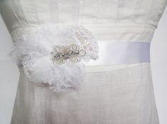 Bridal Sash  Lace Bridal Sash  White Lace by glamweddingboutique, $59.95