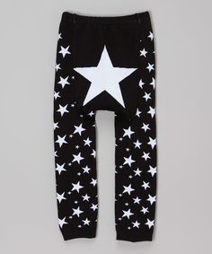 Another great find on #zulily! Black & White Stars Leggings - Infant #zulilyfinds