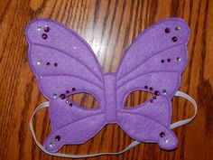 Butterfly Felt Mask Costume Accessory Any by OurCozyCreations