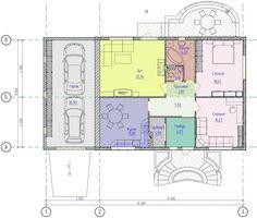 Проект одноэтажного дома с террасой и гаражом на две машины   Люстромода