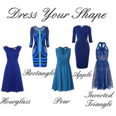 Dress Your Shape, blue dresses for each body shape