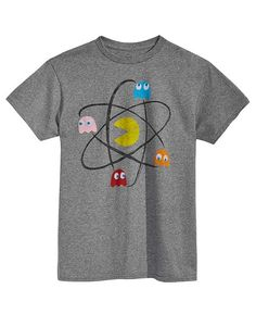 Pac-Man Ain/'t afraid of No Ghosts Official Pacman Ghostbusters Black Mens Tshirt