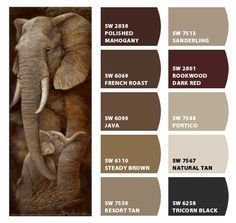 """""""Elephants"""" Color Palette Inspiration for exterior craftsman home paint scheme, stone accents colors, shingle choice, and landscaping. by Sherwin-Williams – Home Outside Paint Colors, Outdoor Paint Colors, Exterior Paint Colors For House, Paint Colors For Home, House Colors, Lounge Colour Schemes, Color Schemes Colour Palettes, Colour Pallette, Colour Combinations"""