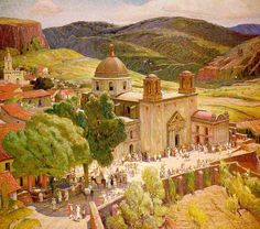Painting of Taxco by Berninghaus