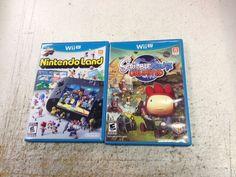 Nintendo Land, Scribblenauts unlimited lot of 2 Wii U NES games