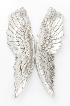 KARE DESIGN Nástěnná dekorace Angel Wings: polyresin hliníková fólie