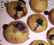 Pear & Blueberry Muffins with hidden greens