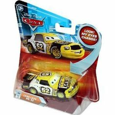 Disney Pixar Cars Die Cast 1:55 Lenticular - Leak Less No. 52 #49 by Mattel. $8.75. Age 3+. Number #49 of the Series 2 die cast collection. Leak Less No. 52 has lenticular eyes!. Die cast is of 1:55 Scale. Yellow race car with No. 52 on the side. Changing lenticular eyes bring all the fun of Disney Pixar Cars characters to life-- just in time for your next road adventure! This 1:55 scale Die-Cast Car is big on personality and detail -- and fun!  Vehicle measures approx. 2.5 i...