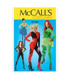 Mccall Pattern M7269-D50-Misses' Costumes-12-14-16-18-20