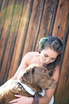 Bride & Dog..