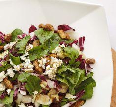 Perfect Fall salad w/ Cinnamon Pear balsamic and Walnut Oil Lunch Snacks, Lunches, Fall Salad, Walnut Oil, Rabbit Food, Dash Diet, Kinds Of Salad, Boating, Cobb Salad