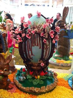 Chocolate Easter Egg ~ Grand Floridian   Everything on this edible