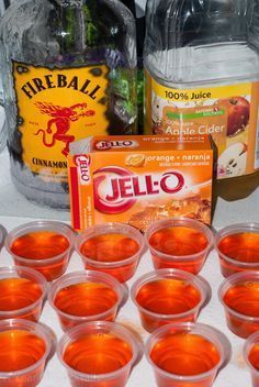 Halloween Jello Shots ~ A Year of Cocktails                                                                                                                                                                                 More