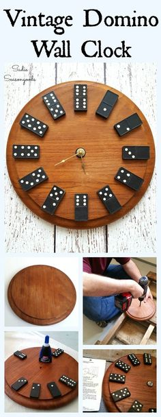 Domino Numbers Game Room Clock