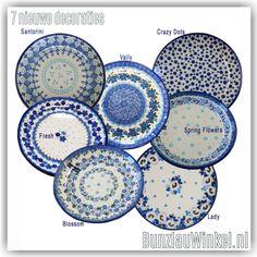 Hier zijn ze dan, alle 7 nieuw!!! 2016 ! Polish Pottery, Spring Flowers, Castle, Museum, Hand Painted, Tableware, How To Make, Painting, Dinnerware